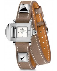 Hermes Medor Mini  Quartz Women's Watch, Stainless Steel, Silver Dial, 028273WW00