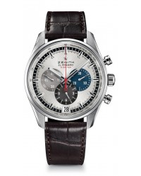 Zenith El Primero  Chronograph Automatic Men's Watch, Stainless Steel, Silver Dial, 03.2040.400/69.C494