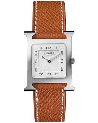 Hermes H Hour  Quartz Women's Watch, Stainless Steel, White Dial, 036791WW00