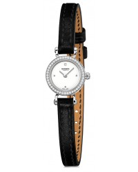 Hermes Faubourg  Quartz Women's Watch, 18K White Gold, White Dial, 040548WW00