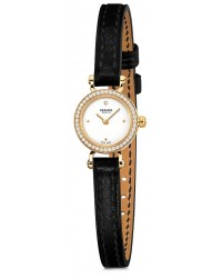Hermes Faubourg  Quartz Women's Watch, 18K Yellow Gold, White Dial, 040556WW00