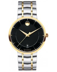 Movado 1881  Automatic Men's Watch, Gold Tone, Black Dial, 606916