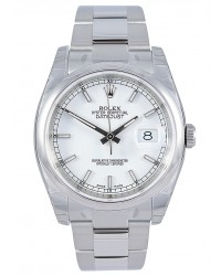 Rolex DateJust 36  Automatic Women's Watch, Stainless Steel, White Dial, 116200-WHT