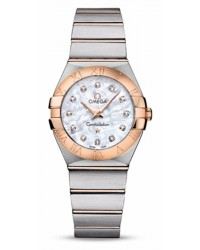 Omega Constellation  Quartz Women's Watch, 18K Rose Gold, Mother Of Pearl & Diamonds Dial, 123.20.27.60.55.001