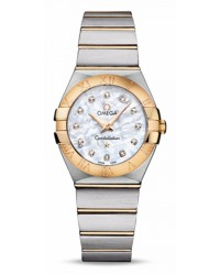 Omega Constellation  Quartz Women's Watch, 18K Yellow Gold, Mother Of Pearl & Diamonds Dial, 123.20.27.60.55.002