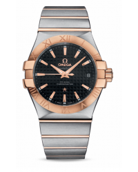 Omega Constellation  Automatic Men's Watch, 18K Rose Gold, Black Dial, 123.20.35.20.01.001