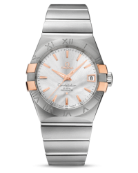 Omega Constellation  Automatic Men's Watch, 18K Rose Gold, Silver Dial, 123.20.38.21.02.004