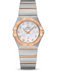 Omega Constellation  Quartz Women's Watch, Steel & 18K Rose Gold, Mother Of Pearl Dial, 123.20.27.60.55.007