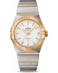 Omega Constellation  Automatic Men's Watch, Steel & 18K Yellow Gold, Silver Dial, 123.20.38.21.02.009