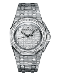 Audemars Piguet Royal Oak  Automatic Men's Watch, 18K White Gold, Diamond Pave Dial, 15130BC.ZZ.8042BC.01
