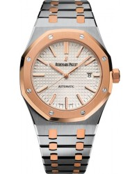 Audemars Piguet Royal Oak  Automatic Men's Watch, Steel & 18K Rose Gold, Silver Dial, 15400SR.OO.1220SR.01