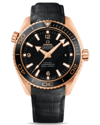 Omega Planet Ocean  Automatic Men's Watch, 18K Rose Gold, Black Dial, 232.63.46.21.01.001
