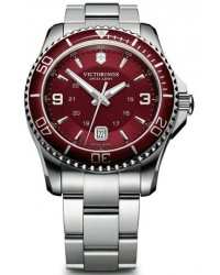 Victorinox Swiss Army Maverick  Quartz Men's Watch, Stainless Steel, Red Dial, 241604
