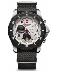 Victorinox Swiss Army Maverick  Chronograph Quartz Men's Watch, Stainless Steel, Silver Dial, 241680.1