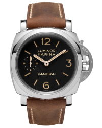 Panerai Luminor Marina 1950  Mechanical Men's Watch, Stainless Steel, Black Dial, PAM00422