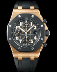 Audemars Piguet Royal Oak Offshore  Chronograph Automatic Men's Watch, 18K Rose Gold, Black Dial, 25940OK.OO.D002CA.02