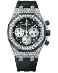 Audemars Piguet Royal Oak Offshore  Chronograph Automatic Women's Watch, 18K White Gold, Black Dial, 26092CK.ZZ.D002CA.01
