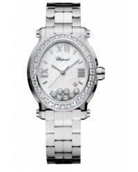 Chopard Happy Diamonds  Quartz Women's Watch, Stainless Steel, Mother Of Pearl Dial, 278546-3004