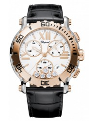 Chopard Happy Diamonds  Chronograph Quartz Women's Watch, 18K Rose Gold, White Dial, 288499-6001