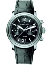 Blancpain Leman  Chronograph Flyback Men's Watch, Stainless Steel, Black Dial, 2885F-11B30-53B