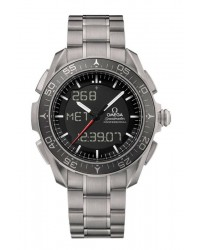 Omega Skywalker  Quartz Men's Watch, Titanium, Black Dial, 318.90.45.79.01.001