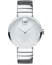 Movado Edge  Quartz Women's Watch, Stainless Steel, Silver Dial, 3680012