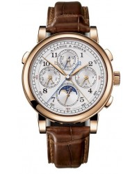 A. Lange & Sohne 1815  Chronograph Manual Men's Watch, 18K Rose Gold, Silver Dial, 421.032