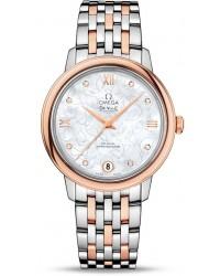 Omega De Ville  Automatic Women's Watch, Steel & 18K Rose Gold, Silver Dial, 424.20.33.20.55.001