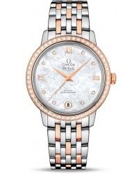 Omega De Ville  Automatic Women's Watch, Steel & 18K Rose Gold, Silver Dial, 424.25.33.20.55.003