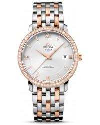 Omega De Ville  Automatic Women's Watch, Steel & 18K Rose Gold, Silver Dial, 424.25.37.20.52.001