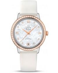 Omega De Ville  Automatic Women's Watch, Steel & 18K Rose Gold, Silver Dial, 424.27.33.20.55.001