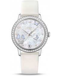Omega De Ville  Automatic Women's Watch, 18K White Gold, Silver Dial, 424.57.33.20.55.001