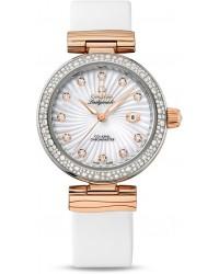 Omega De Ville  Automatic Women's Watch, Steel & 18K Rose Gold, Silver Dial, 425.27.34.20.55.001