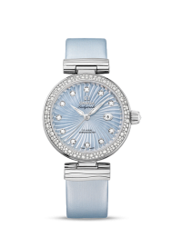 Omega De Ville Ladymatic  Automatic Women's Watch, Stainless Steel, Blue Dial, 425.37.34.20.57.002