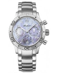 Breguet Type XX  Chronograph Automatic Women's Watch, Stainless Steel, Mother Of Pearl Dial, 4820ST/59/S76