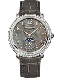 Patek Philippe Complications  Mechanical Women's Watch, 18K White Gold, Black Mother Of Pearl Dial, 4968G-001