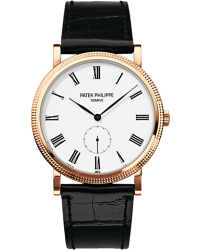Patek Philippe Calatrava  Mechanical Men's Watch, 18K Rose Gold, White Dial, 5119R-001
