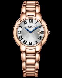 Raymond Weil Jasmine  Quartz Women's Watch, Gold Tone, Silver Dial, 5235-P5-01659