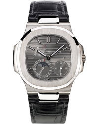 Patek Philippe Nautilus  Automatic With Power Reserve Men's Watch, 18K White Gold, Grey Dial, 5712G-001