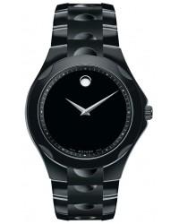 Movado Luno  Quartz Men's Watch, PVD Black Steel, Black Dial, 606536