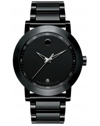 Movado Museum  Quartz Men's Watch, PVD Black Steel, Black Dial, 606615