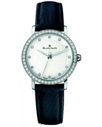 Blancpain Villeret  Automatic Women's Watch, Stainless Steel, White Dial, 6102-4628-95