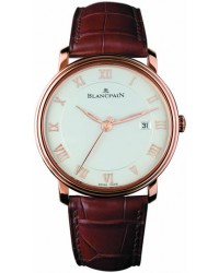 Blancpain Villeret  Automatic Men's Watch, 18K Rose Gold, White Dial, 6651-3642-55
