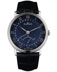 Blancpain Villeret  Automatic Men's Watch, 18K White Gold, Blue Dial, 6653Q-1529-55B