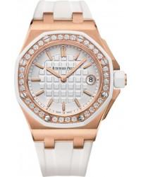 Audemars Piguet Royal Oak Offshore  Quartz Women's Watch, 18K Rose Gold, Silver Dial, 67540OK.ZZ.A010CA.01