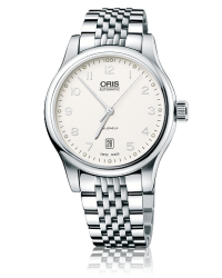 Oris Classic  Automatic Men's Watch, Stainless Steel, Silver Dial, 733-7594-4091-07-8-20-61