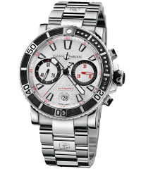 Ulysse Nardin Maxi Marine Diver  Chronograph Automatic Men's Watch, Stainless Steel, Silver Dial, 8003-102-7/916