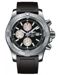 Breitling Super Avenger II  Automatic Men's Watch, Stainless Steel, Black Dial, A1337111.BC29.137S