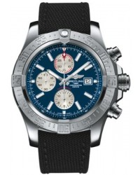 Breitling Super Avenger II  Automatic Men's Watch, Stainless Steel, Blue Dial, A1337111.C871.104W