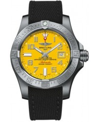 Breitling Avenger II Seawolf  Automatic Men's Watch, Stainless Steel, Yellow Dial, A1733110.I519.103W